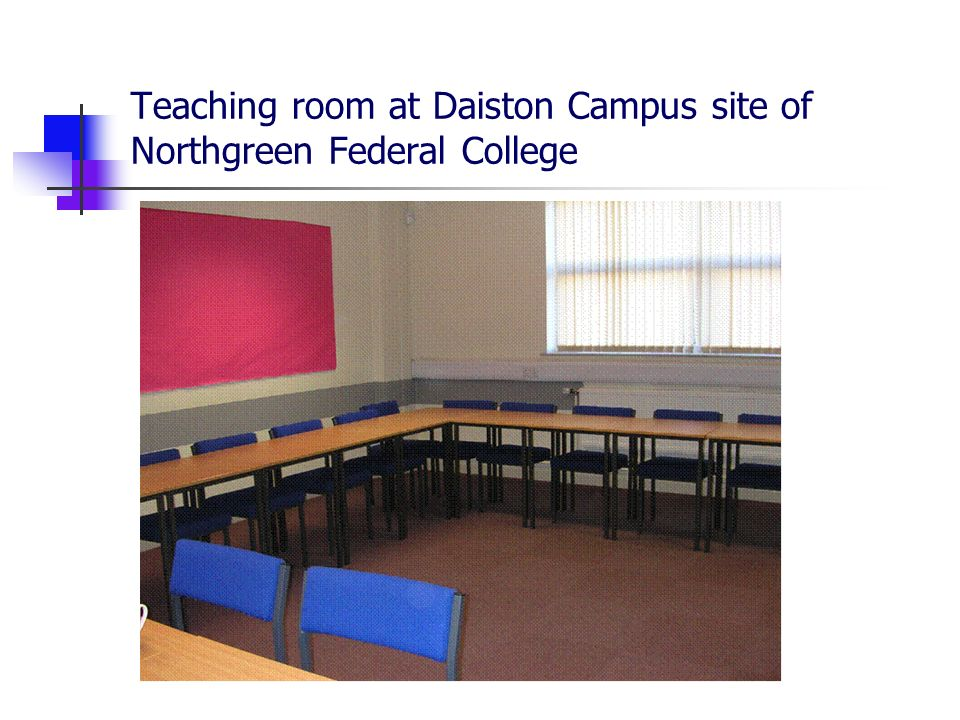 Teaching room at Daiston Campus site of Northgreen Federal College