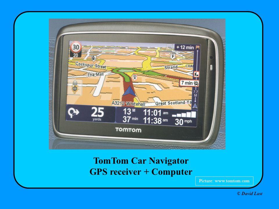 © David Last TomTom Car Navigator GPS receiver + Computer Picture: www.tomtom.com