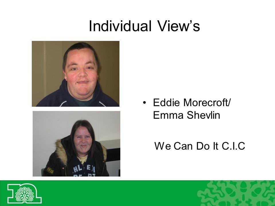 Individual Views Eddie Morecroft/ Emma Shevlin We Can Do It C.I.C