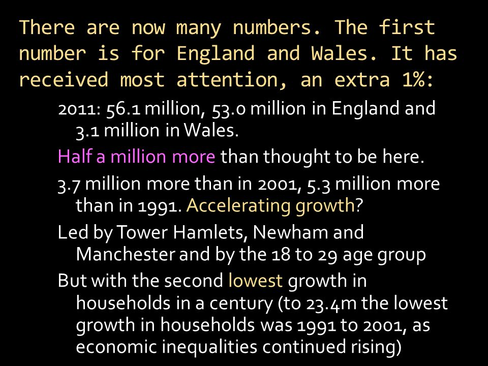 There are now many numbers. The first number is for England and Wales.