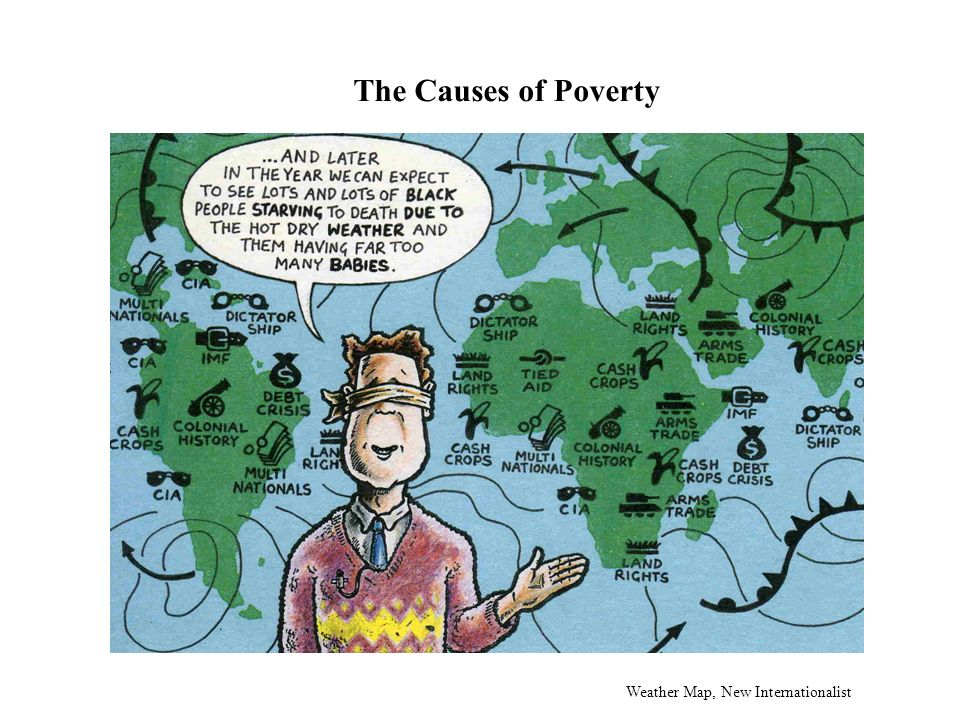 The Causes of Poverty Weather Map, New Internationalist