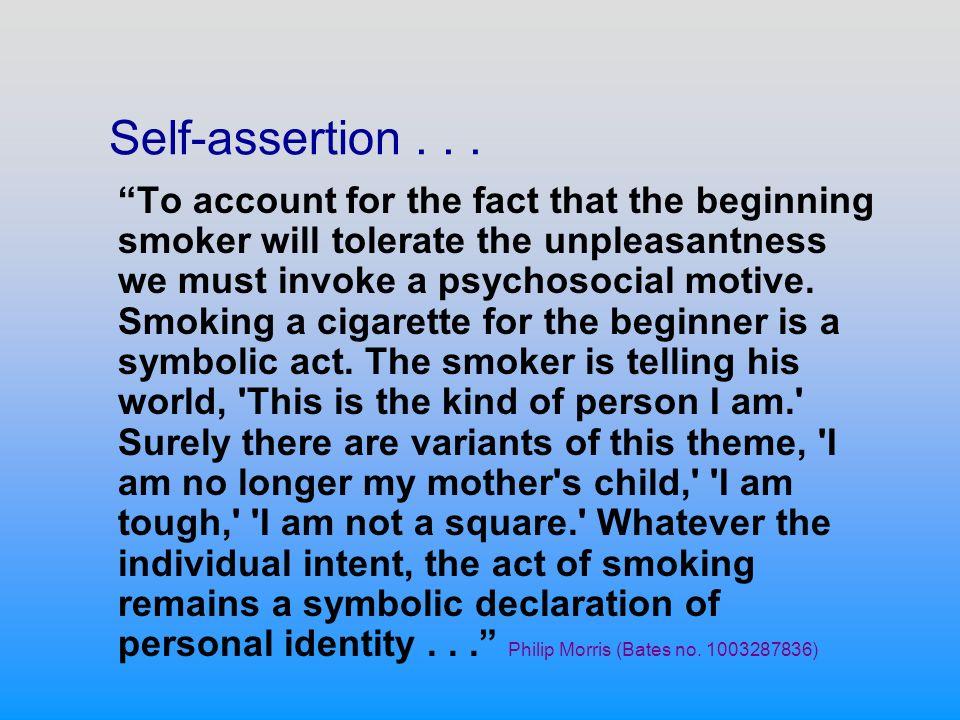 Self-assertion...
