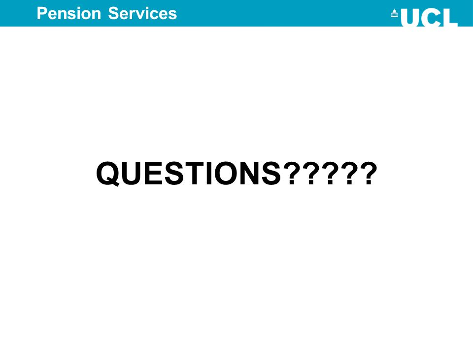 QUESTIONS????? Pension Services
