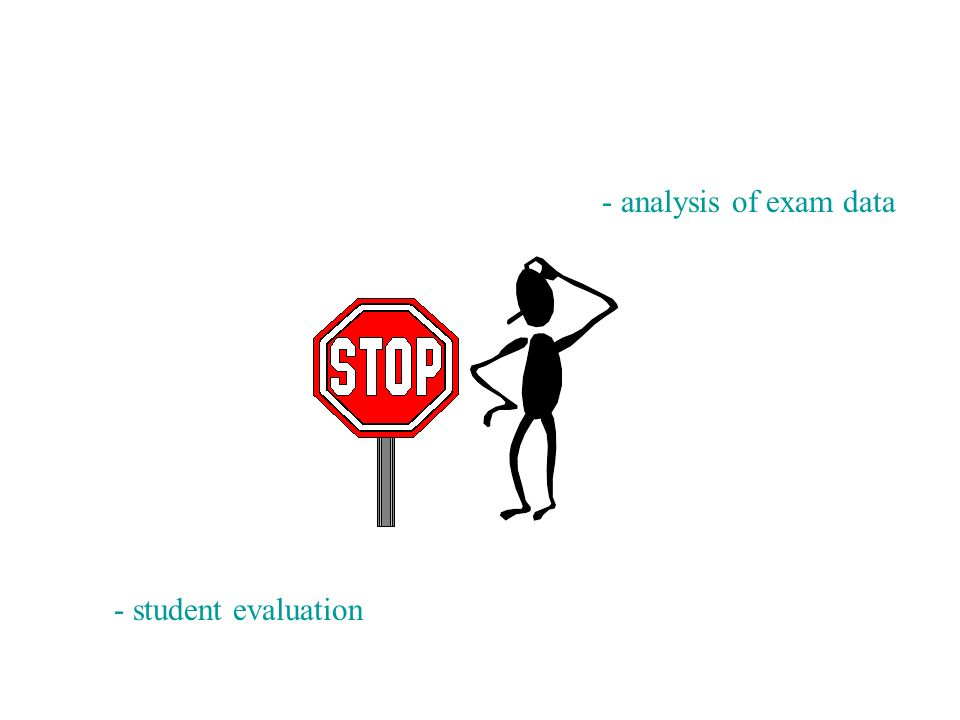 - analysis of exam data - student evaluation
