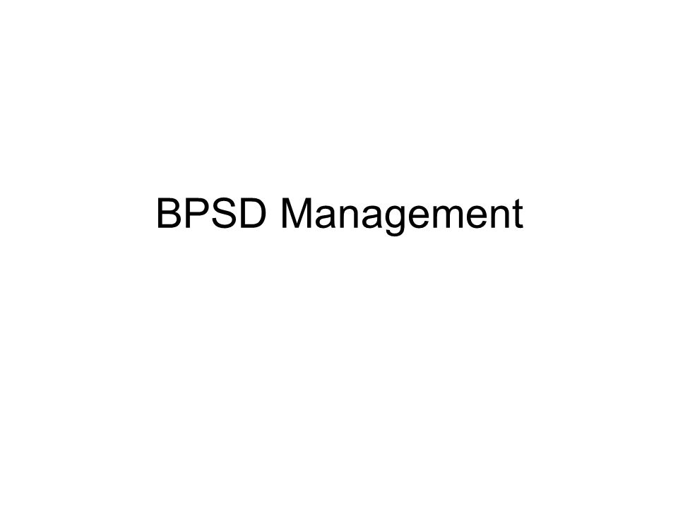 BPSD Management