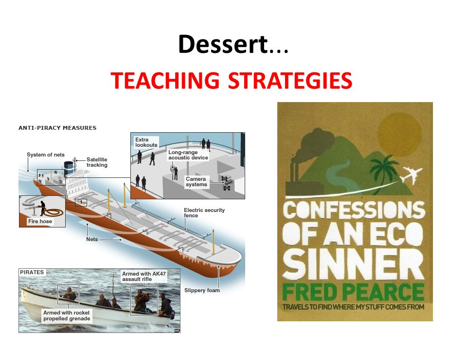 Dessert... TEACHING STRATEGIES