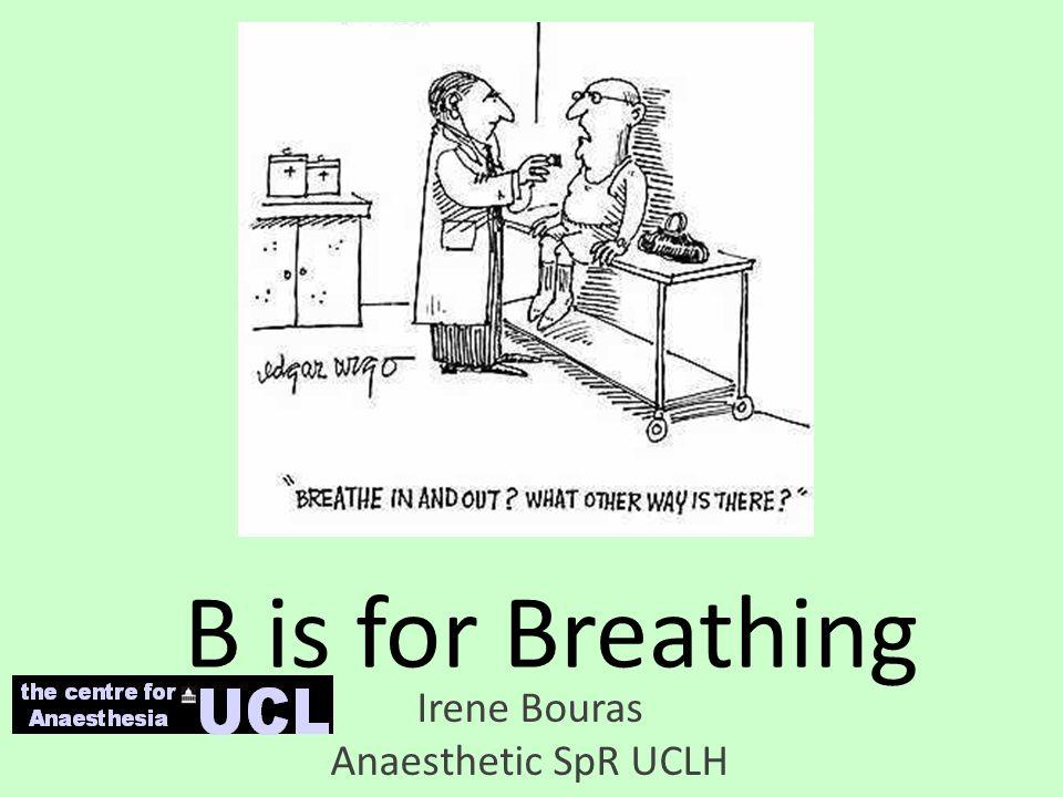 B is for Breathing Irene Bouras Anaesthetic SpR UCLH