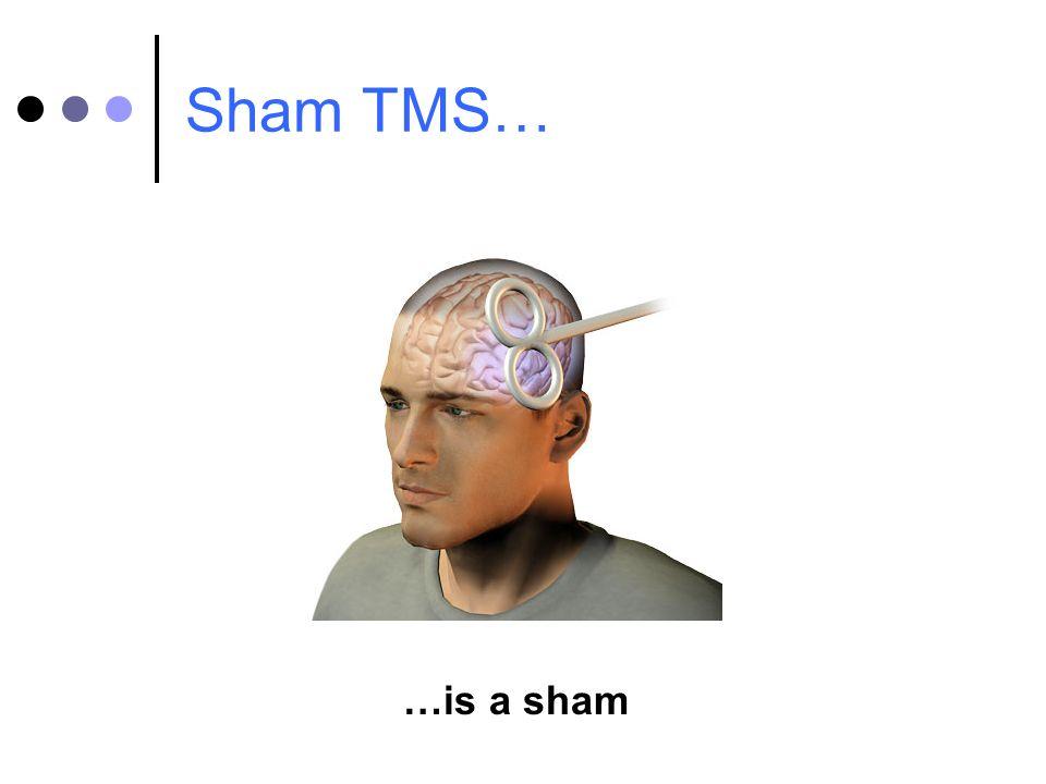 Sham TMS… …is a sham