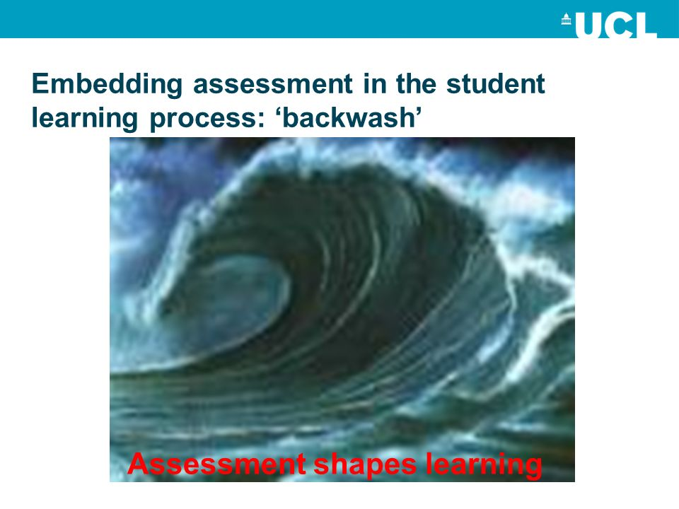 Embedding assessment in the student learning process: backwash Assessment shapes learning