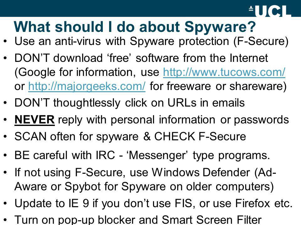 What should I do about Spyware.