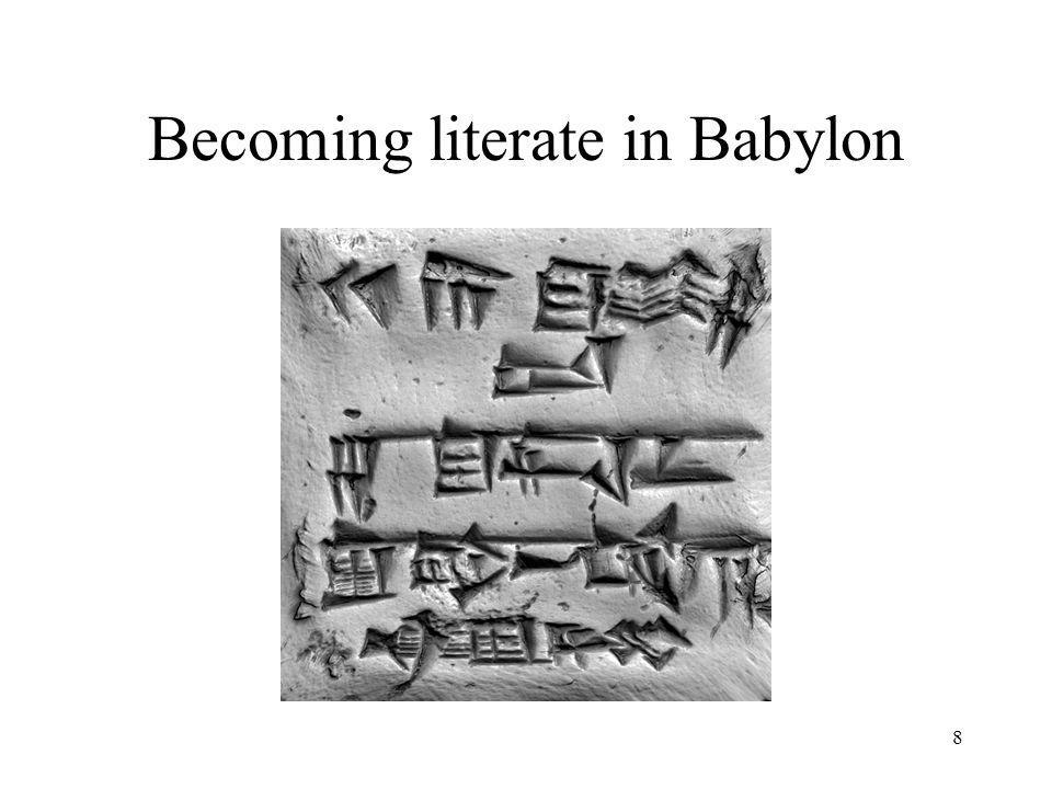 8 Becoming literate in Babylon
