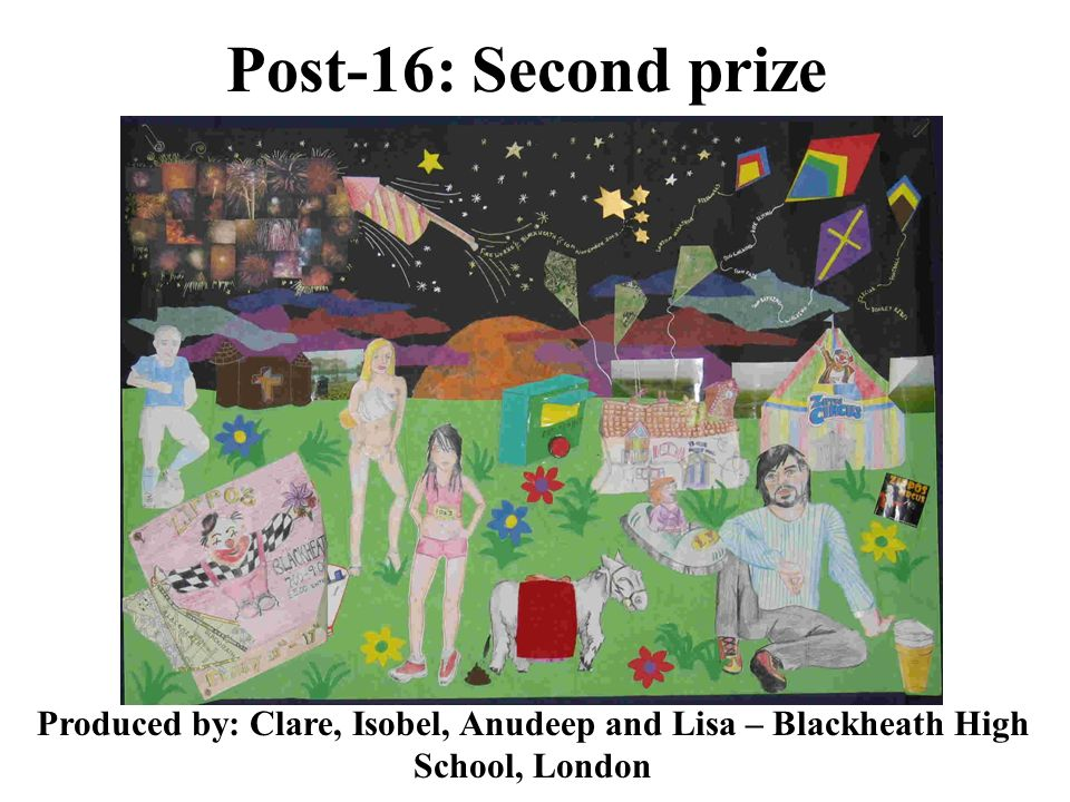 Post-16: Second prize Produced by: Clare, Isobel, Anudeep and Lisa – Blackheath High School, London