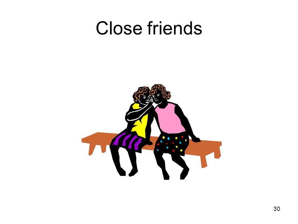30 Close friends