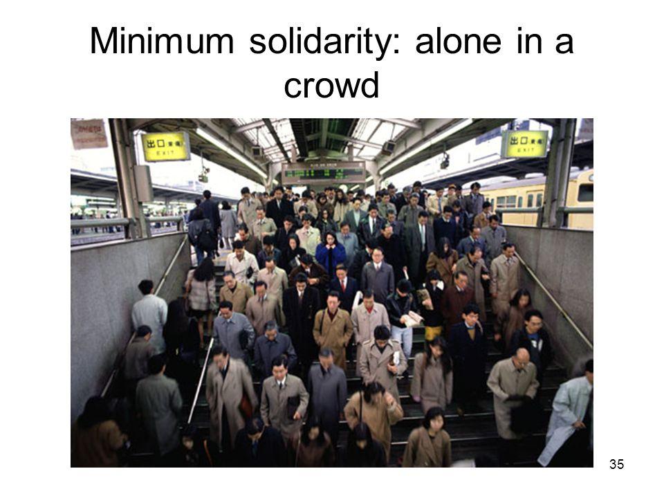 35 Minimum solidarity: alone in a crowd