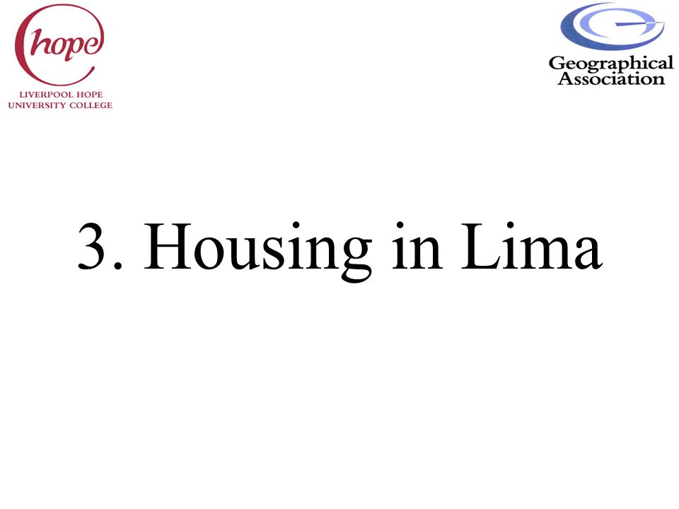 3. Housing in Lima
