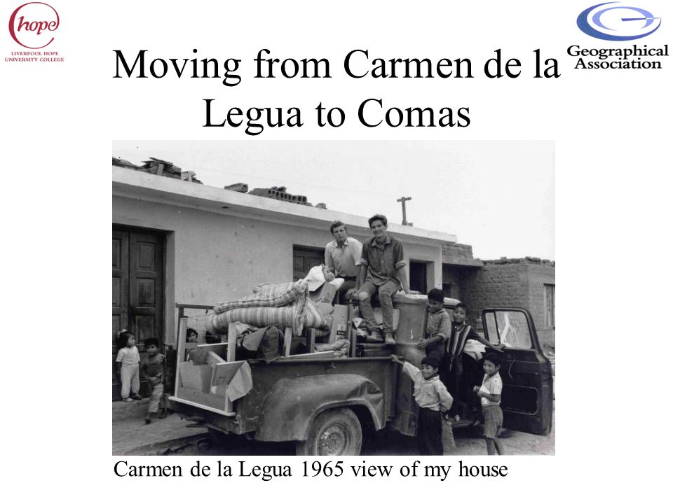 Moving from Carmen de la Legua to Comas Carmen de la Legua 1965 view of my house