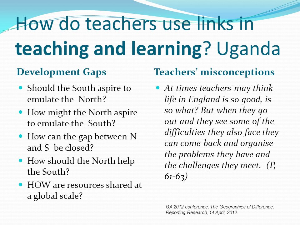 How do teachers use links in teaching and learning.
