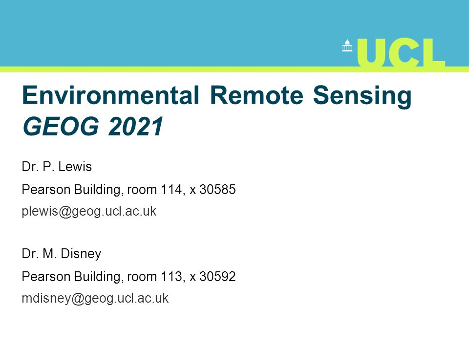 12 Remote Sensing: examples Platform depends on application What information do we want.