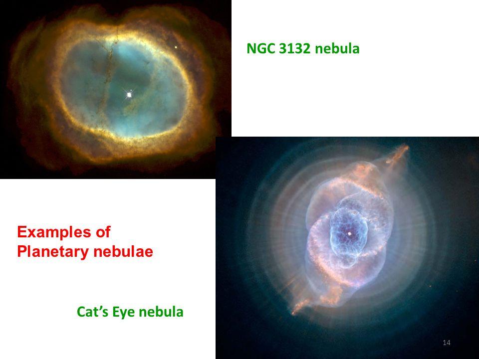 NGC 3132 nebula Cats Eye nebula 14 Examples of Planetary nebulae