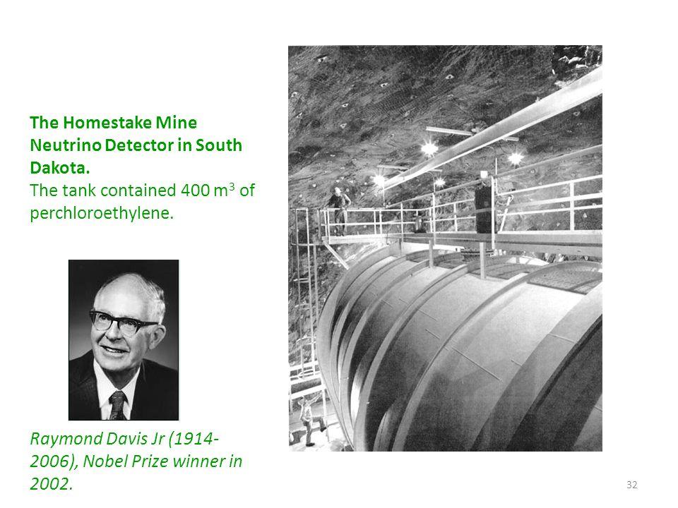 The Homestake Mine Neutrino Detector in South Dakota.