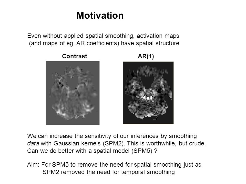 Even without applied spatial smoothing, activation maps (and maps of eg.