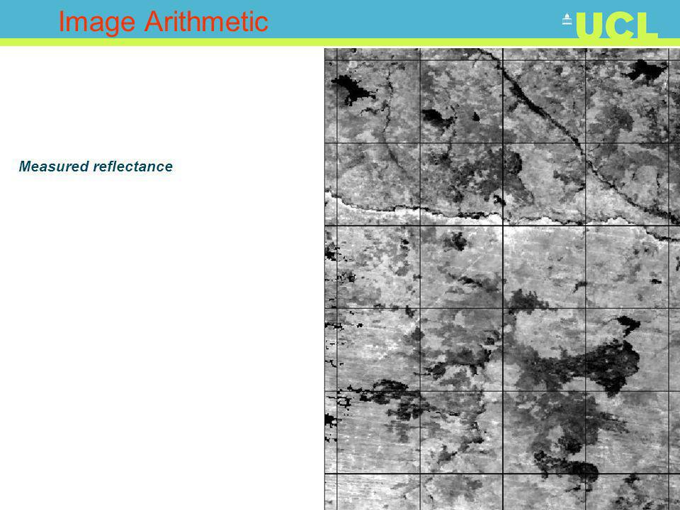 21 Image Arithmetic Measured reflectance