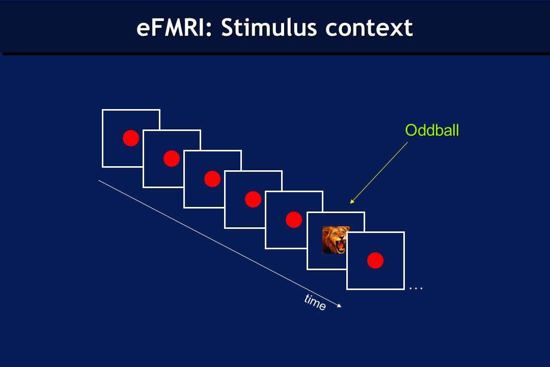 timeOddball … eFMRI: Stimulus context