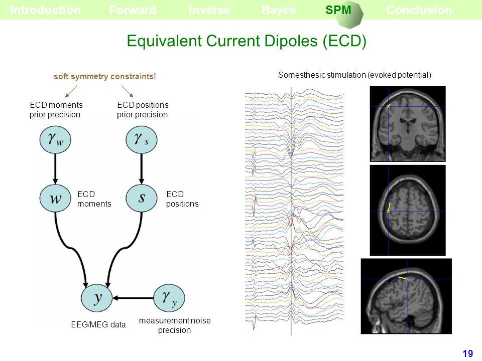 19 EEG/MEG data measurement noise precision ECD positions ECD moments ECD moments prior precision ECD positions prior precision soft symmetry constrai