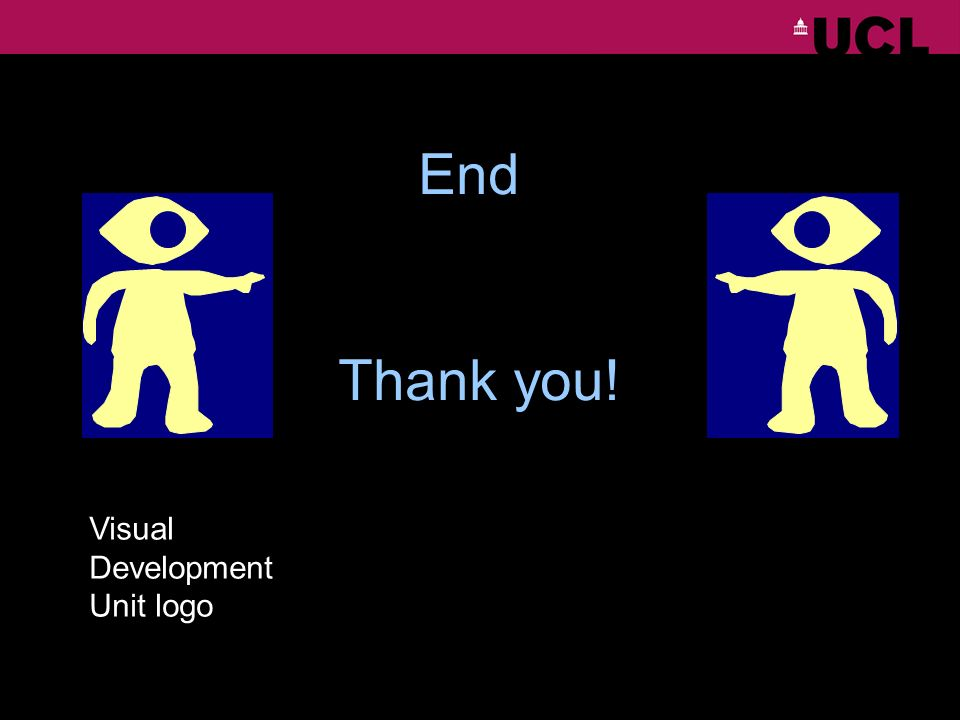 End Thank you! Visual Development Unit logo