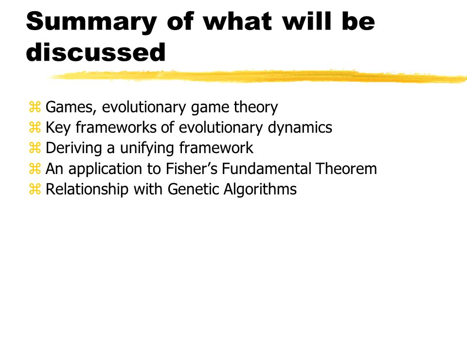 What is game theory.
