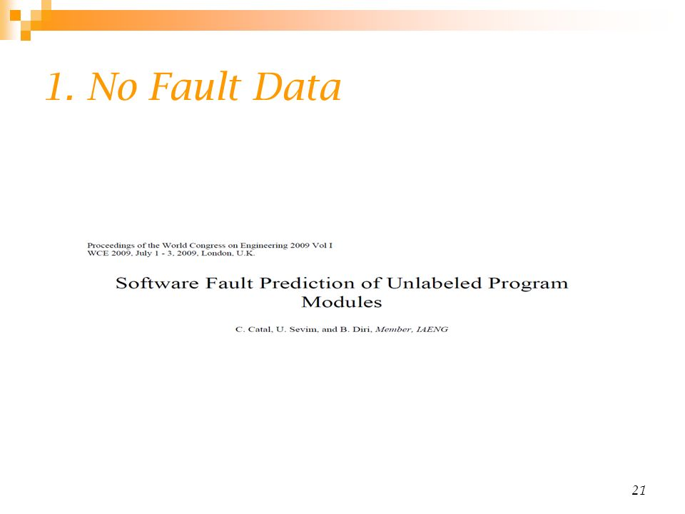 1. No Fault Data 21