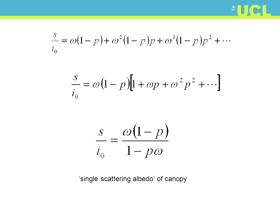 single scattering albedo of canopy