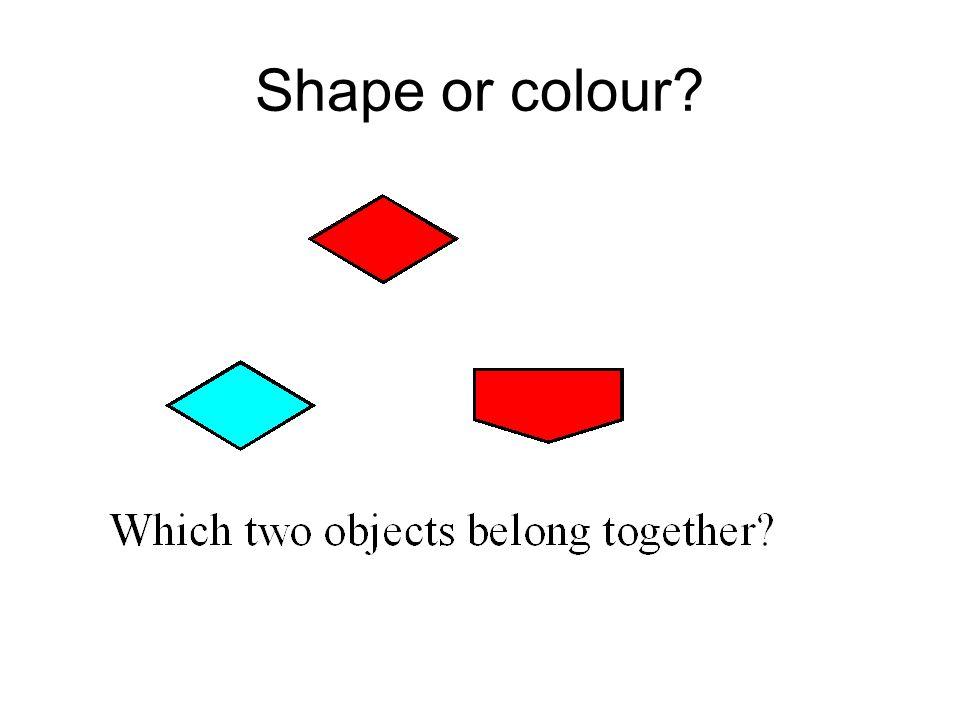 Shape or colour?
