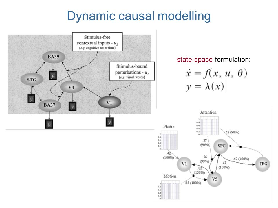 Dynamic causal modelling state-space formulation: