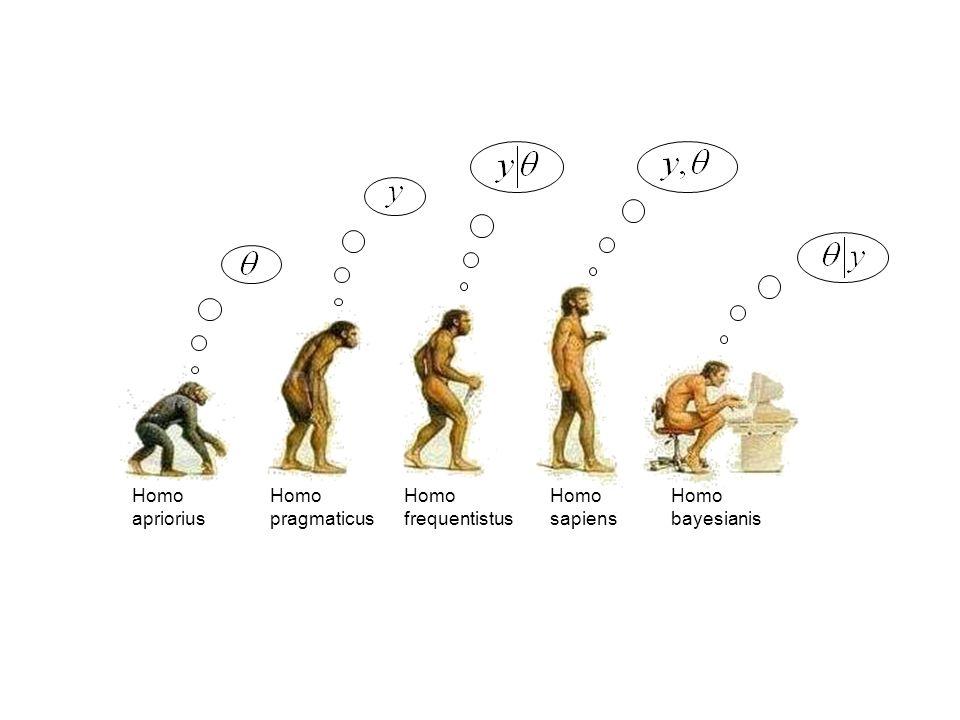 Homo apriorius Homo pragmaticus Homo frequentistus Homo sapiens Homo bayesianis