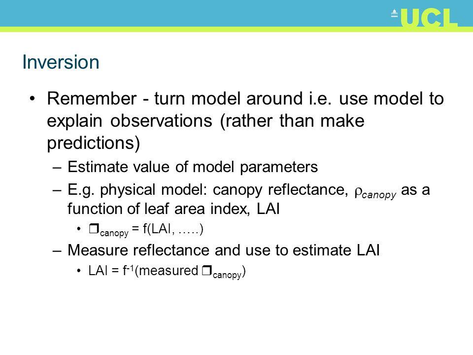 Inversion Remember - turn model around i.e.