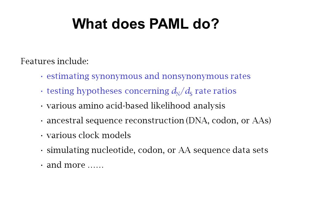 What does PAML do.