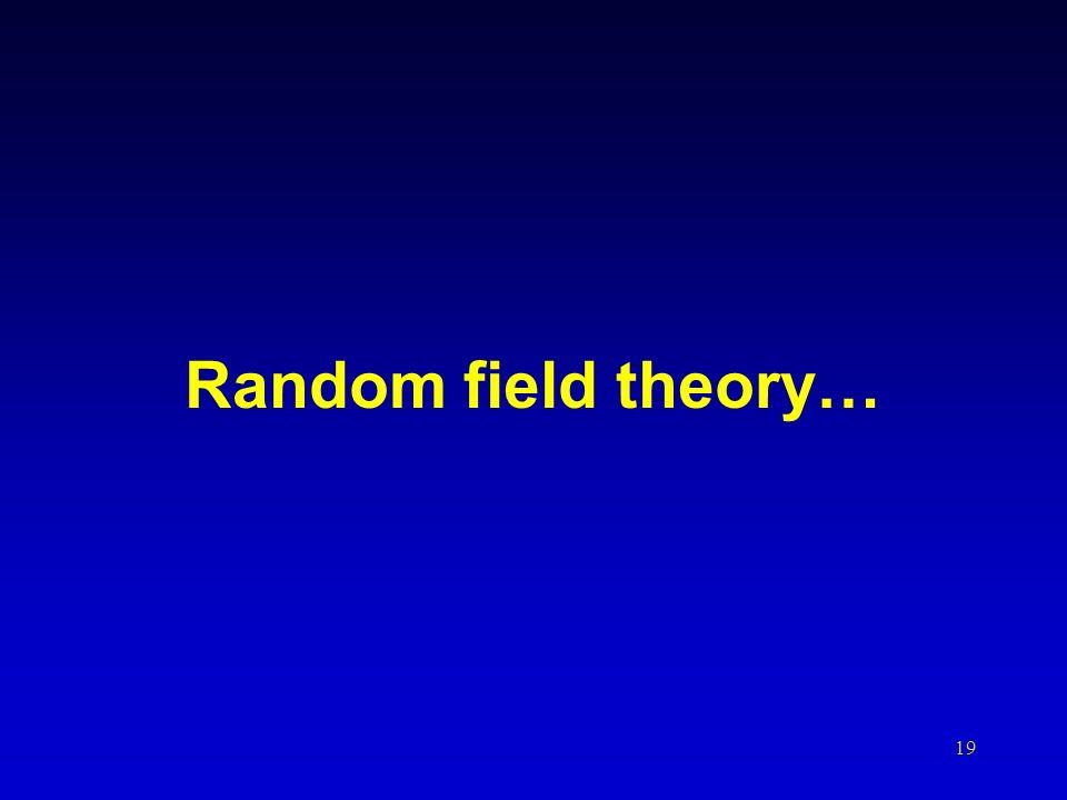 19 Random field theory…