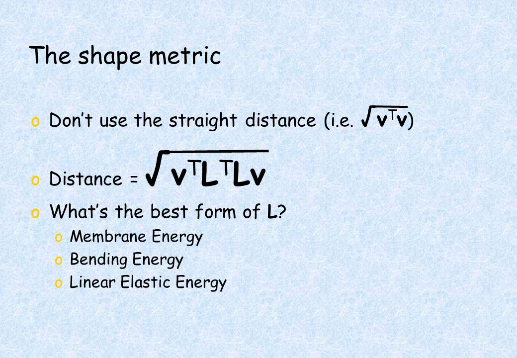 The shape metric oDont use the straight distance (i.e.