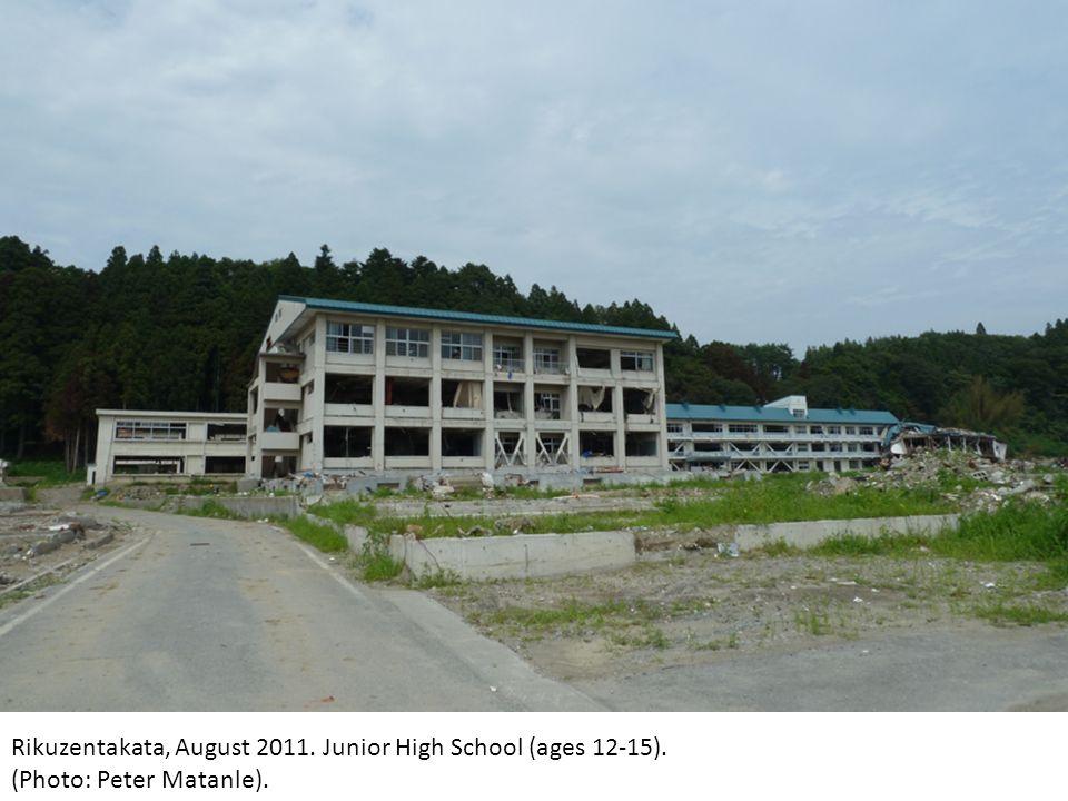 Rikuzentakata, August 2011. Junior High School (ages 12-15). (Photo: Peter Matanle).