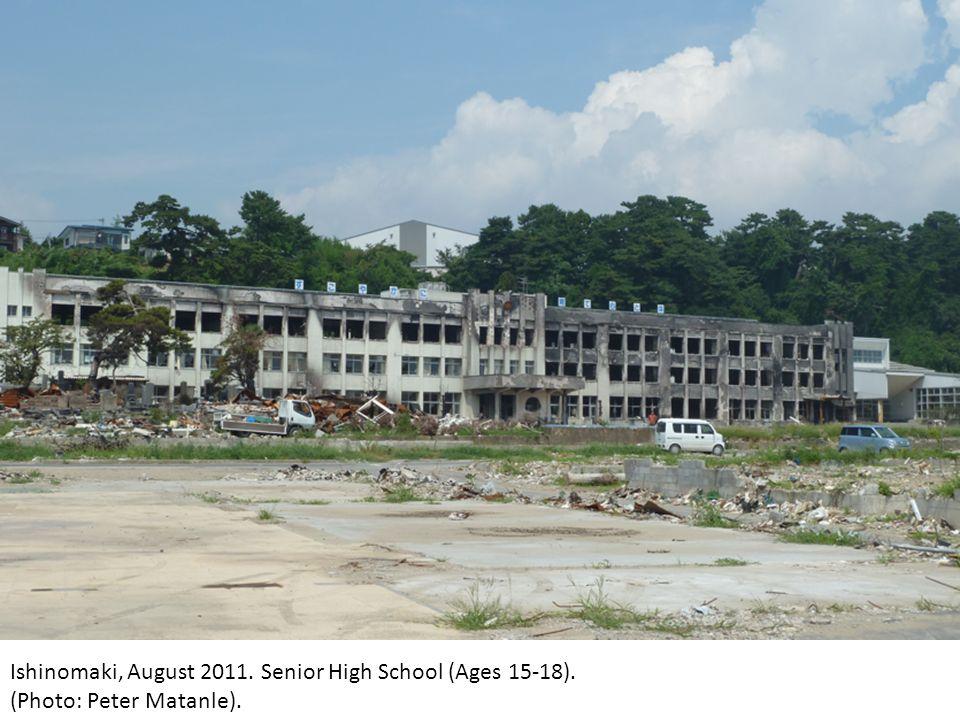 Ishinomaki, August 2011. Senior High School (Ages 15-18). (Photo: Peter Matanle).