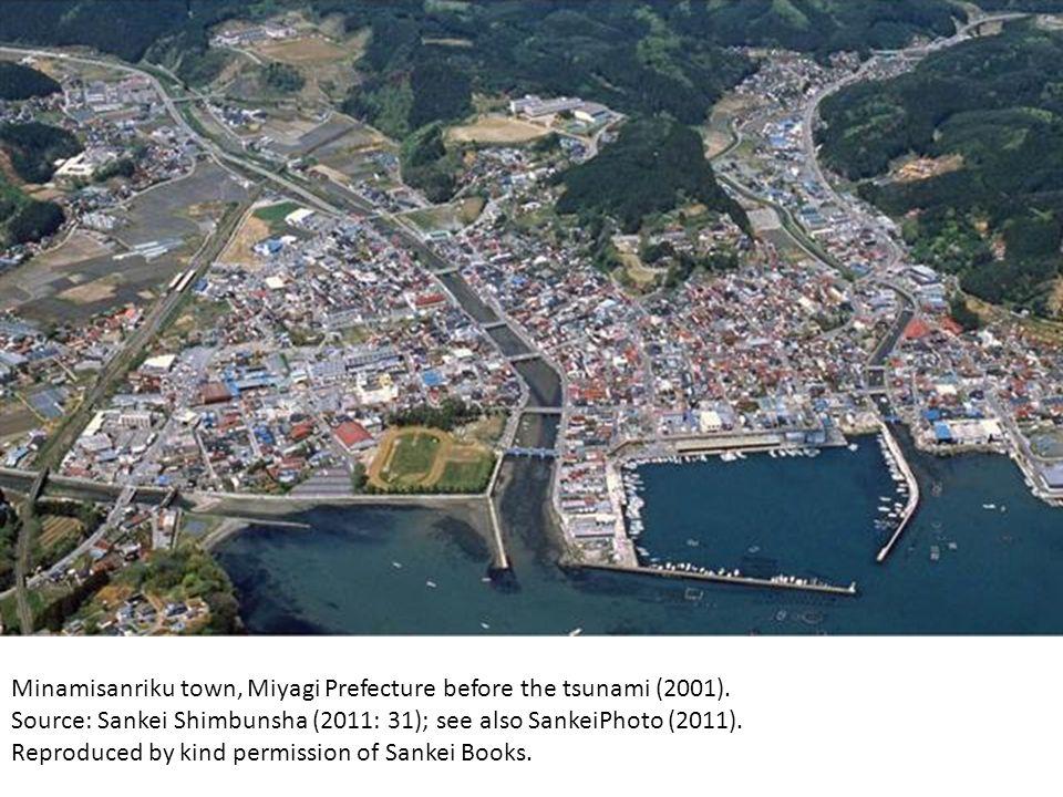 Minamisanriku town, Miyagi Prefecture before the tsunami (2001). Source: Sankei Shimbunsha (2011: 31); see also SankeiPhoto (2011). Reproduced by kind