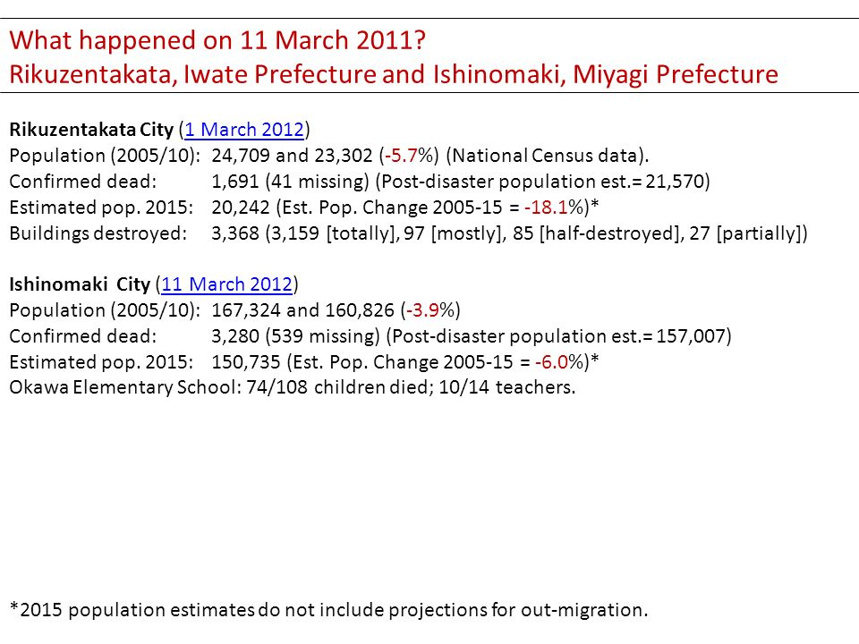 What happened on 11 March 2011.