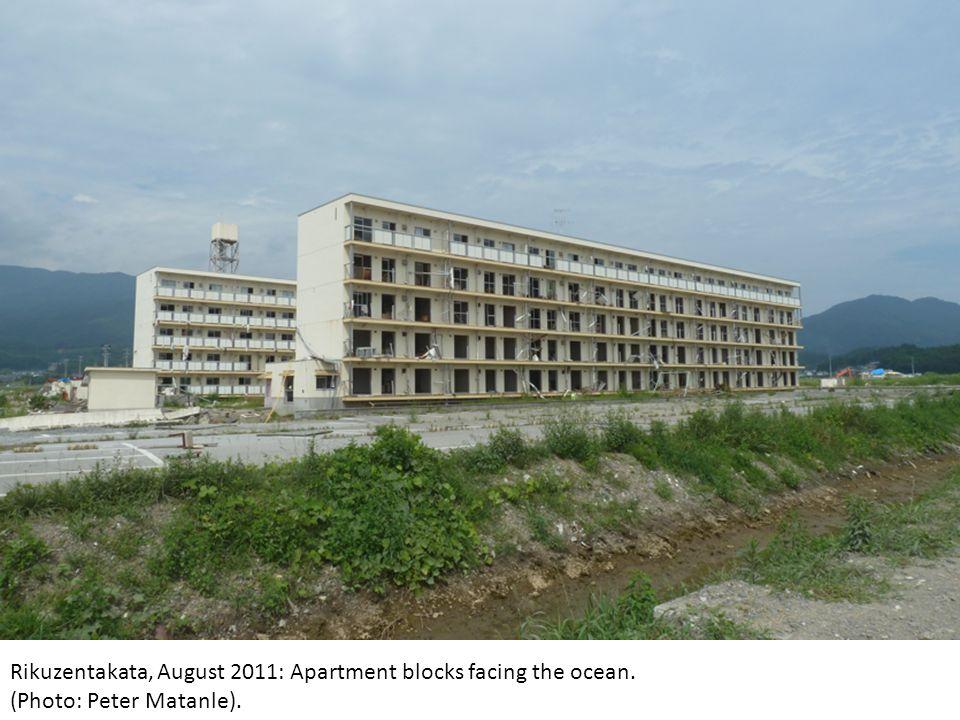 Rikuzentakata, August 2011: Apartment blocks facing the ocean. (Photo: Peter Matanle).