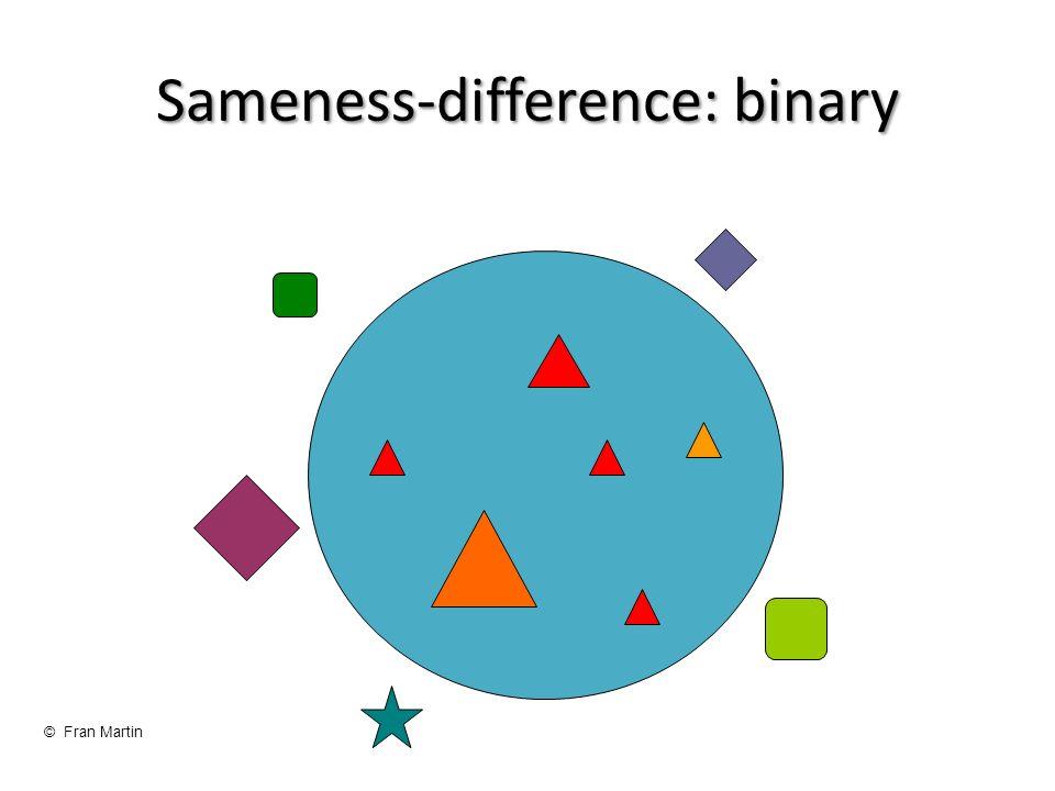 Sameness-difference: binary © Fran Martin