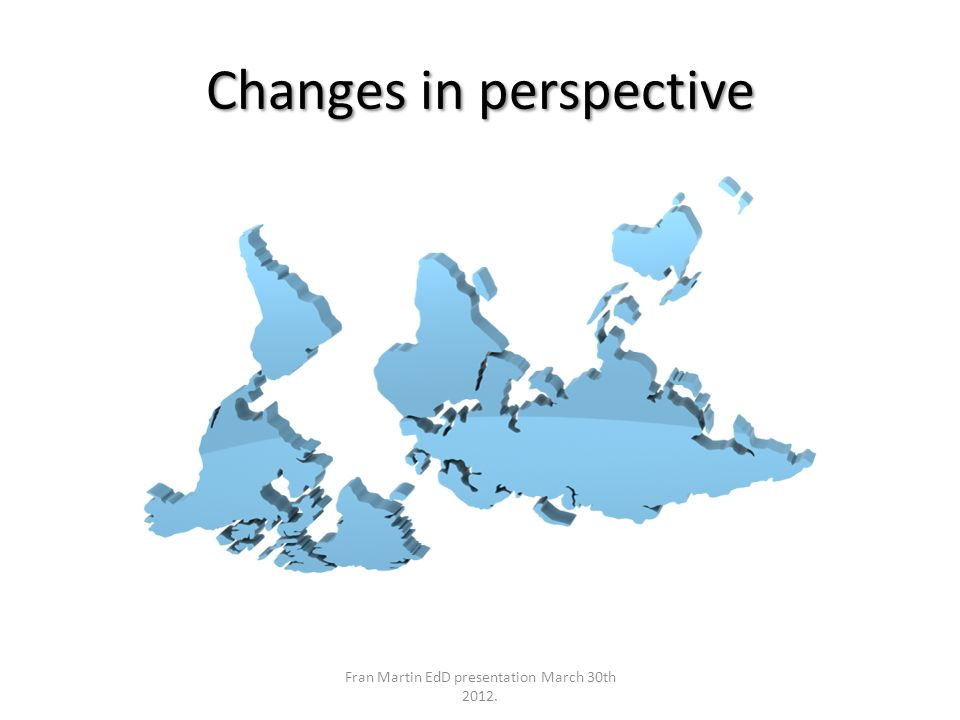 Changes in perspective Fran Martin EdD presentation March 30th 2012.