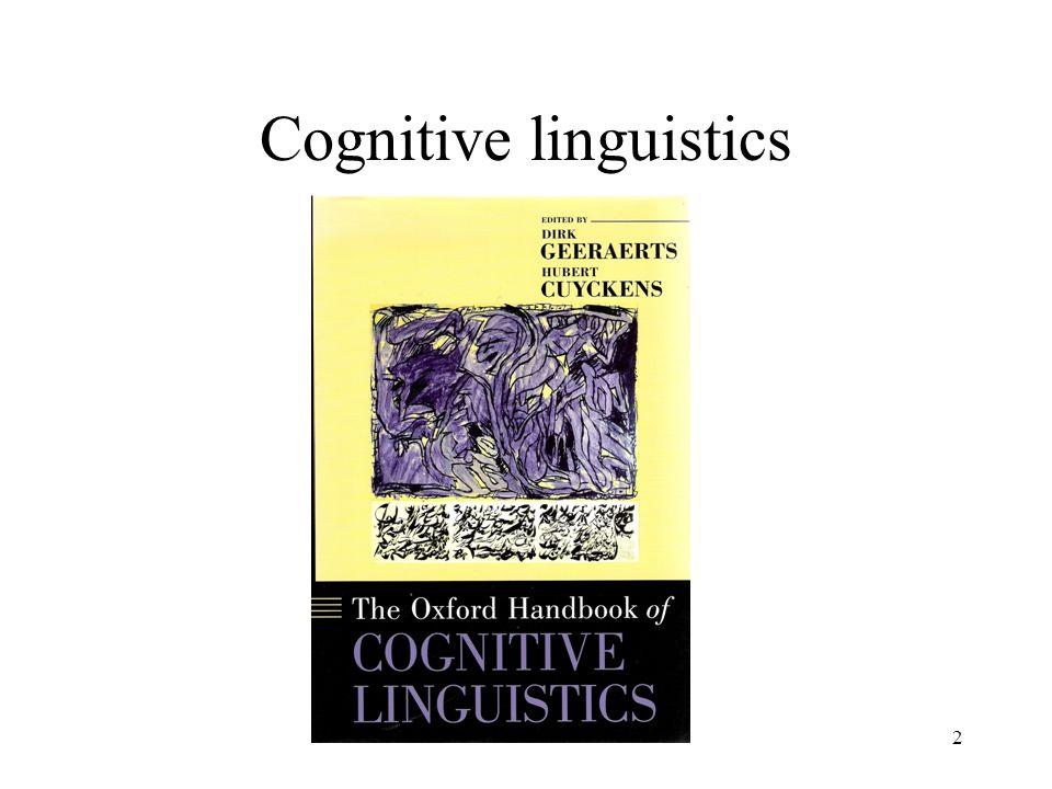 2 Cognitive linguistics