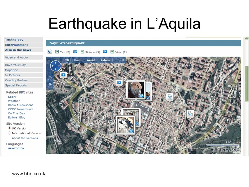 Earthquake in LAquila www.bbc.co.uk