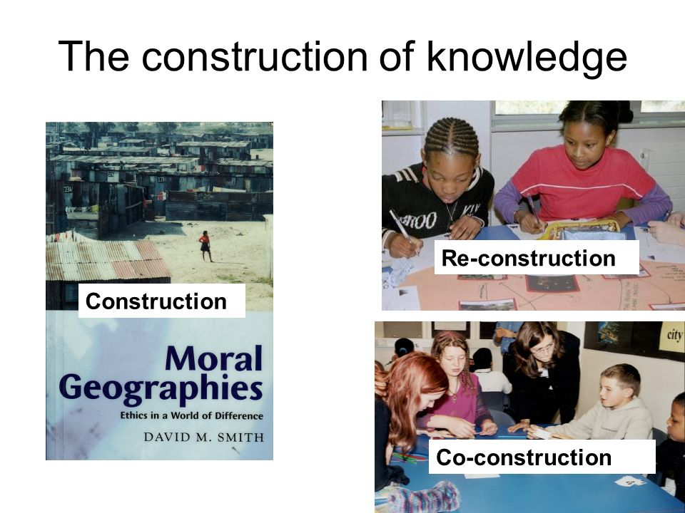 The construction of knowledge Construction Re-construction Co-construction
