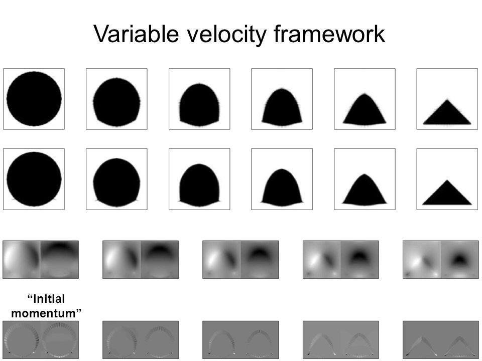 Initial momentum Variable velocity framework